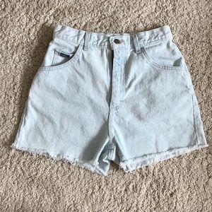Vintage Lee high-waisted denim shorts